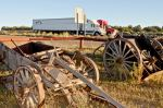 Two vestiages of the Past sit sidelined by I-40 and ModernTransportation