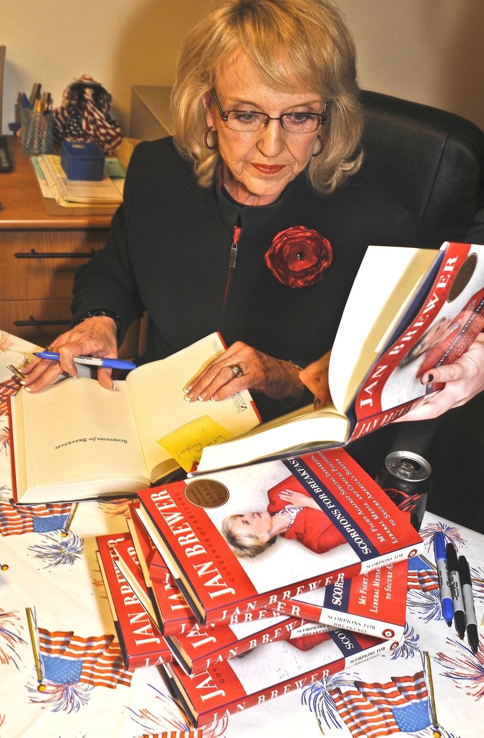 Jan Brewer at Republican Headquarters in Tucson