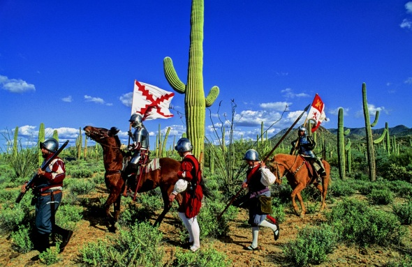 The beginning of History in the American West arrived with the Spanish exploration of the American South West.