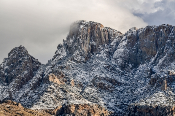 Catalina State park received close to an inch of rain and flurries of snow.