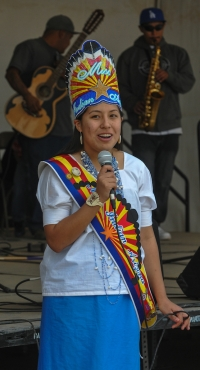ALYSSA R. GARCIA MISS INDIAN ARIZONA  greets fair goers in Sells
