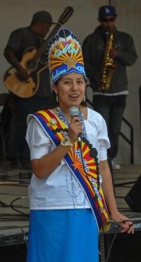 ALYSSA R. GARCIA MISS INDIAN ARIZONA  greets fair goers in Sells