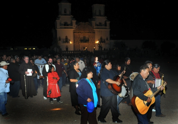 Feast Day Procession at San Xavier...