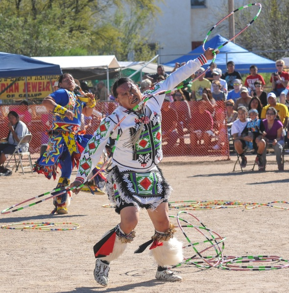 THE HOOP DANCE PLACES GREAT  PHYSICAL DEMAND UPON THE DANCER.