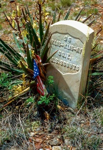 The grave of an Apache Scout, one of many who served with the U.S. Cavalry during the Indian Wars .