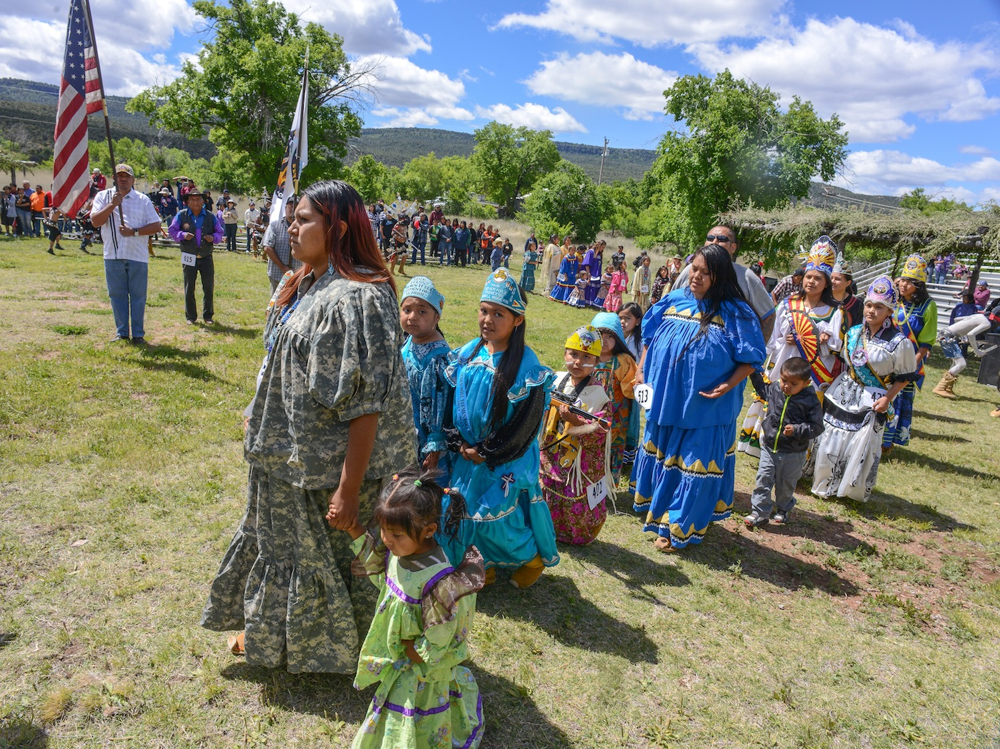 The great fort apache heritage celebration or ndee la ade dancers join in the grand processional biocorpaavc