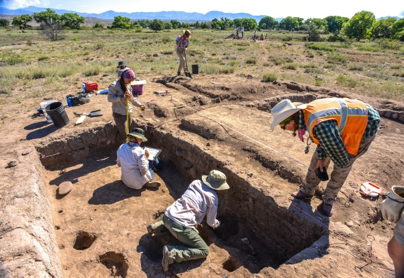 Dinwiddie site under excavation near CLIFF New Mexico.