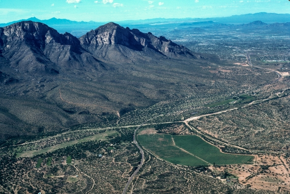Before Oro Valley, the grassy field is today's Marketplace.