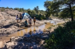 Apache youth enjoy the cool stream flowing through Oak Flat Campground, a long tine favorite escape from the summer heat by San Carlos Apache.