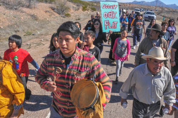 APACHE MARCH ON OAK FLAT8136